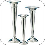 Silver and Pewter Vases