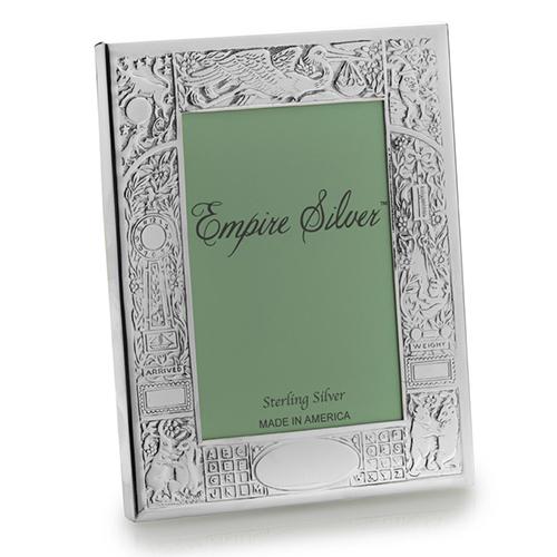 Empire Sterling Silver Birth Record Frame 4 X 6