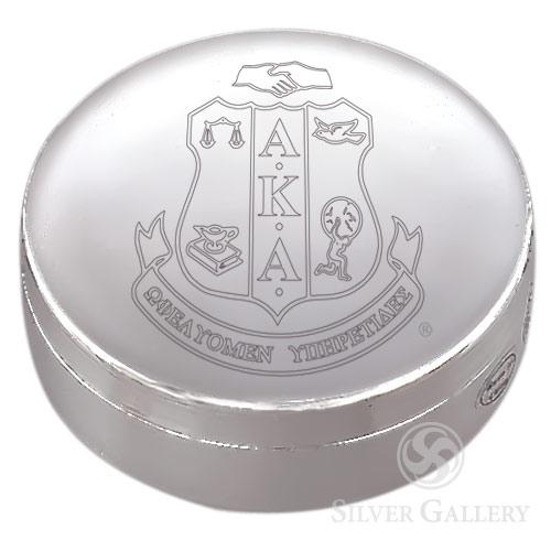 Aka Round Jewelry Box Silverplate