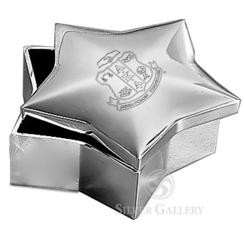 Aka Silver Star Jewelry Box Nickelplate