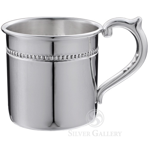 cunill pearls sterling silver baby cup