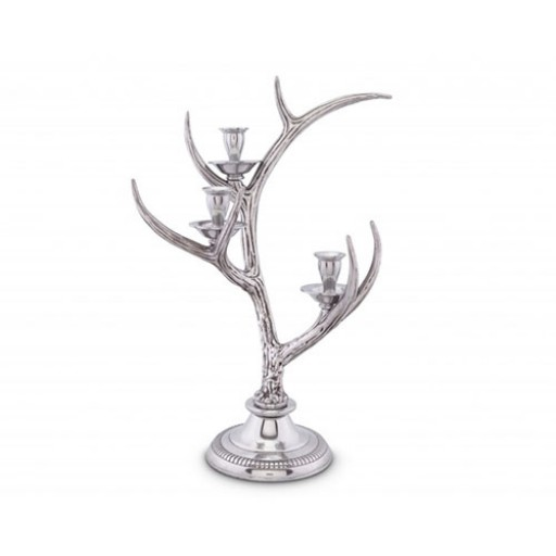 Arthur Court Antler Candlestick - 3 Light - Available from SilverGallery.com