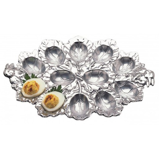 Arthur Court Bunny Deviled Egg Plate - Available from SilverGallery.com