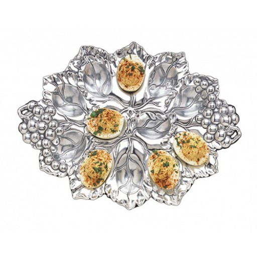 Arthur Court Grape Deviled Egg Holder - Available from SilverGallery.com