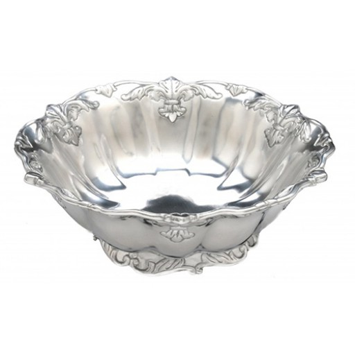 """Arthur Court Fleur-De-Lis Salad Bowl - 12"""" - Available from SilverGallery.com"""