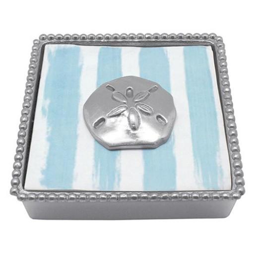 Mariposa Sand Dollar Beaded Napkin Box - 2016 Napkin Design