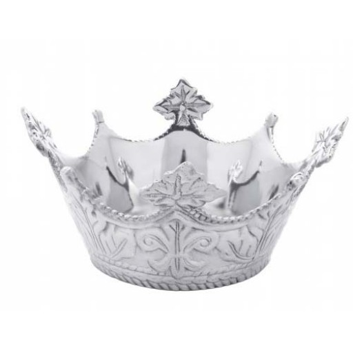 Arthur Court Mardi Gras Crown Nut Bowl/Wine Caddy - Available from SilverGallery.com
