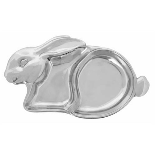 Arthur Court Bunny Personalized Baby Plate - Engrave at SilverGallery.com