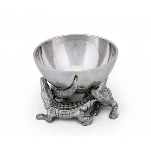 Arthur Court Elevated Alligator Bowl - Available from SilverGallery.com