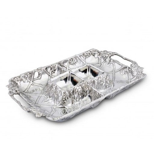 Arthur Court Grape Entertainment Tray - Available from SilverGallery.com