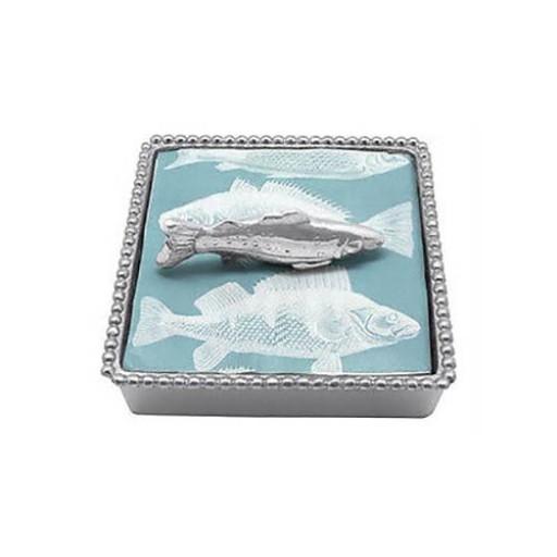 Mariposa Fish Napkin Box - Available from SilverGallery.com