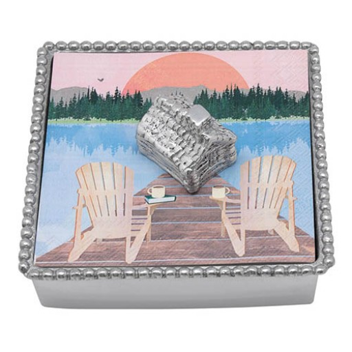 Mariposa Cabin Napkin Box - Available from SilverGallery.com