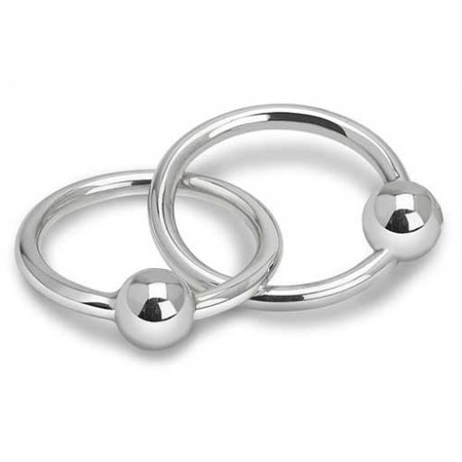 Cunill Sterling Silver Vinard 2-Ring Ball Rattle