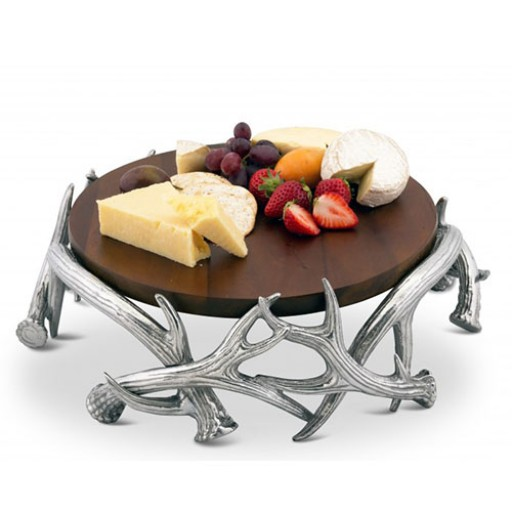 Arthur Court Antler Cheese Pedestal - Large - Available from SilverGallery.com