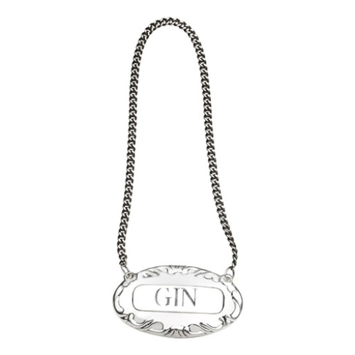 Empire Sterling Silver Decanter Label - Gin