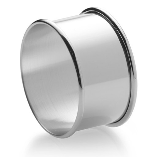 Empire Sterling Plain Napkin Ring - Single - Engrave yours at SilverGallery.com