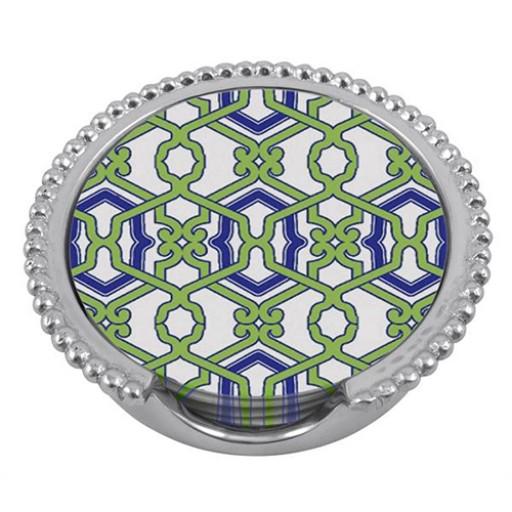 Mariposa Jacki Beaded Coaster Set - Available from SilverGallery.com