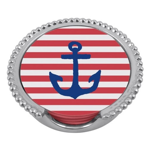Mariposa Anchor Beaded Coaster Set
