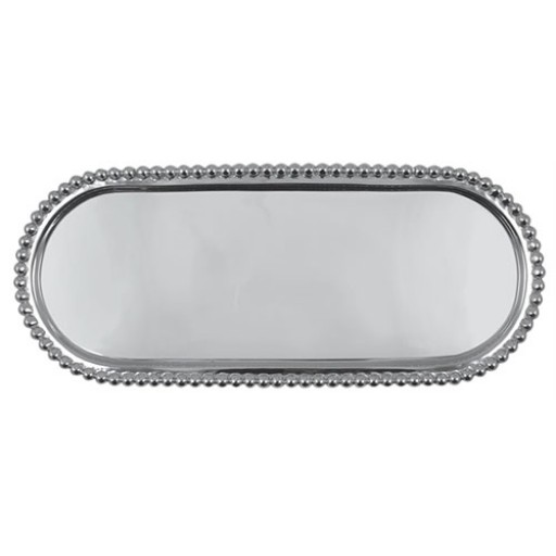 Mariposa Pearled Long Oval Tray
