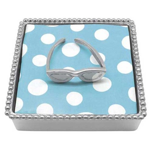 Mariposa Beaded Sunglasses Napkin Box - Available from SilverGallery.com