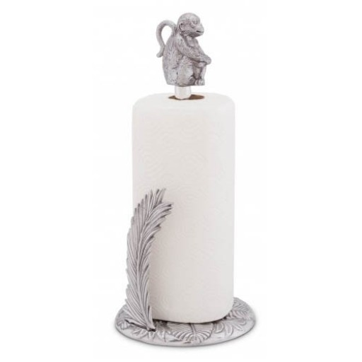 Arthur Court Monkey Paper Towel Holder - Available from SilverGallery.com