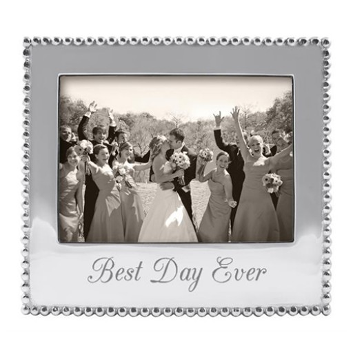"Mariposa ""Best Day Ever"" Picture Frame - 5 x 7 - Engrave it at SilverGallery.com!"