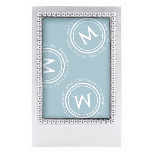 Mariposa Engravable Blank Vertical Statement Frame - 4 x 6