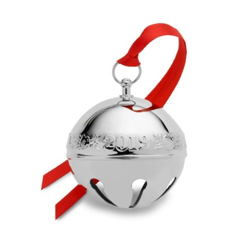 Wallace 2019 Silverplate Sleigh Bell Ornament - 49th Edition