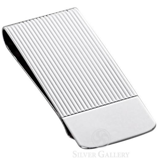 Sterling Silver Linear Money Clip