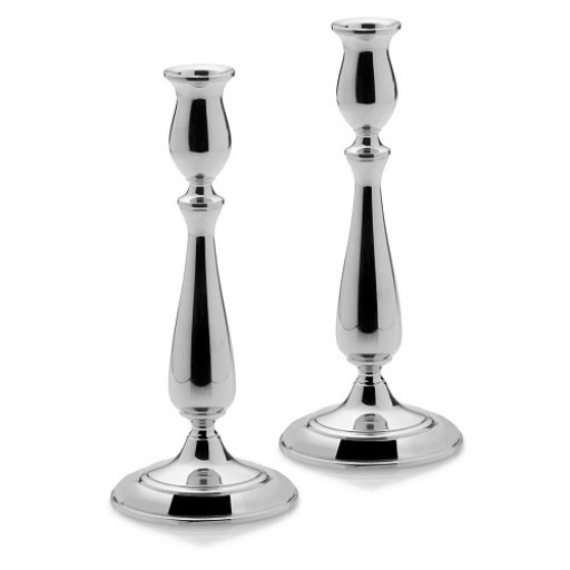 Empire Sterling Silver Tall Tulip Candlesticks - Pair