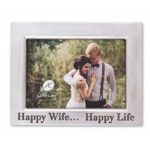 Arthur Court Horizontal Classic Happy Wife Happy Life Frame - 5 x 7