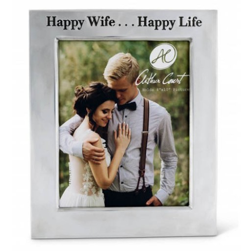 "Arthur Court Vertical Classic ""Happy Wife...Happy Life"" Frame - 8 x 10"