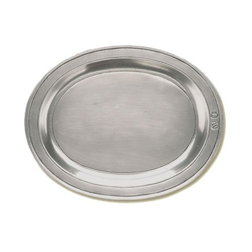 Match Pewter Oval Incised Tray - Extra Large