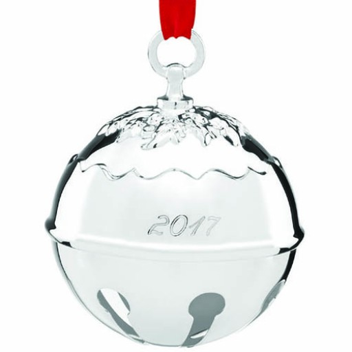 Reed & Barton 2017 Holly Bell Ornament - 42nd Edition - Available from SilverGallery.com