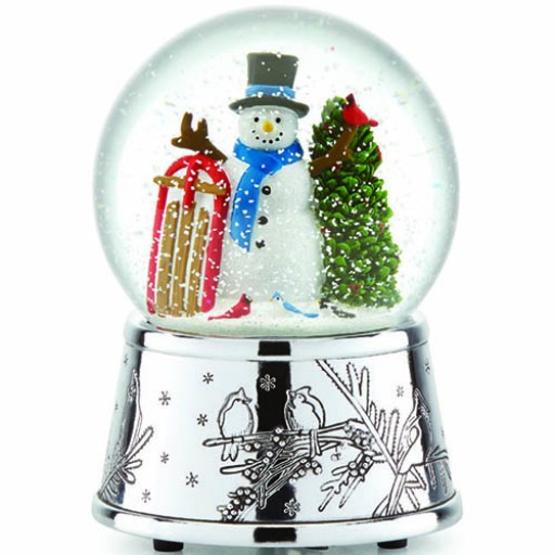 Reed & Barton Snowman & Sleigh Musical Snowglobe - Available from SilverGallery.com