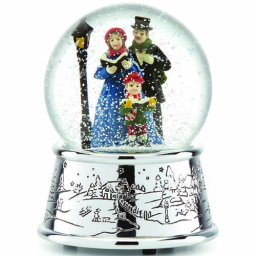 Reed & Barton Carolers' Village Musical Snowglobe - Available from SilverGallery.com