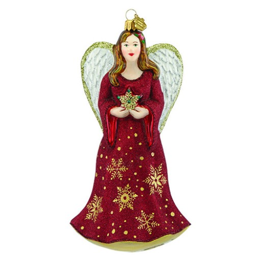 Reed & Barton Angel & Star Figural Glass Ornament - Available from SilverGallery.com
