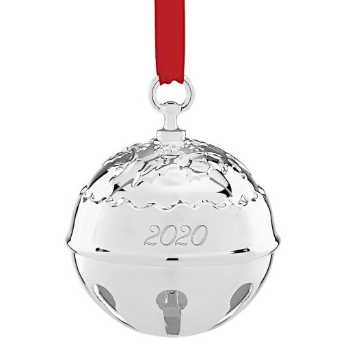 Reed & Barton 2020 Holly Bell Ornament - 45th Edition - Available from SilverGallery.com