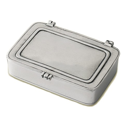 Match Pewter Lidded Box - Large - Engrave it at SilverGallery.com