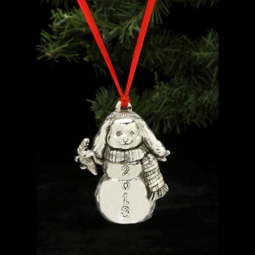Arthur Court 2013 Snow Bunny Ornament