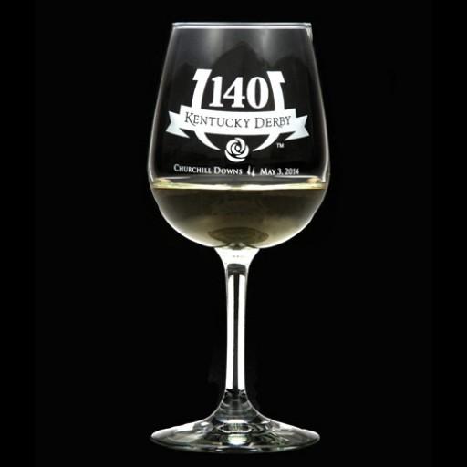 Arthur Court Kentucky Derby Churchill Downs 140th Wine Glass