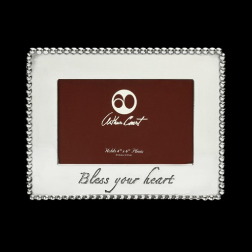 """Arthur Court Bless Your Heart 4"""" x 6"""" Picture Frame"""