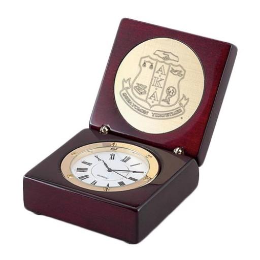 AKA Award Clock in Rosewood Finish Box