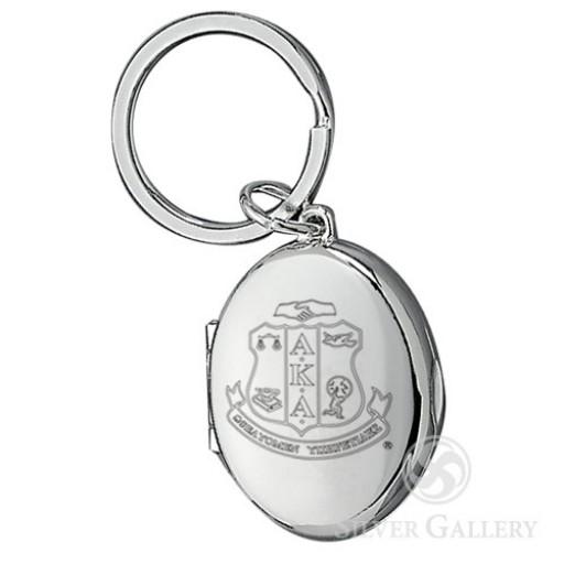 AKA Oval Photo Locket Key Chain