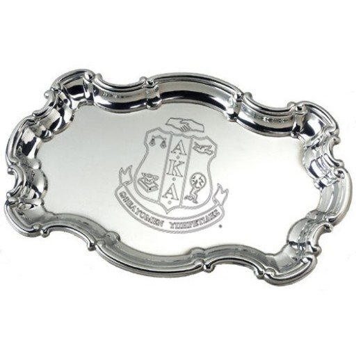 """AKA Sterling Silver Chippendale Tray - 9"""""""