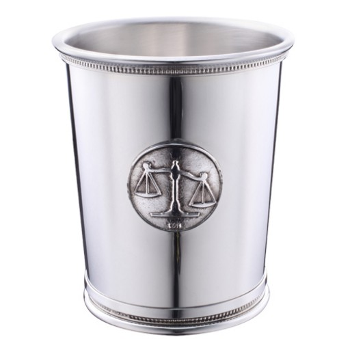 Boardman Sterling Silver Beaded Julep Cup - Scales of Justice