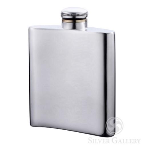 """Boardman Pewter Flask - 4.5"""""""