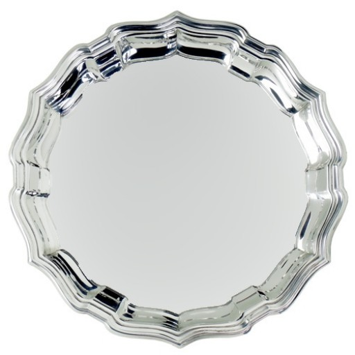 "Salisbury Pewter Chippendale Tray - 10"" - Engrave yours at SilverGallery.com"