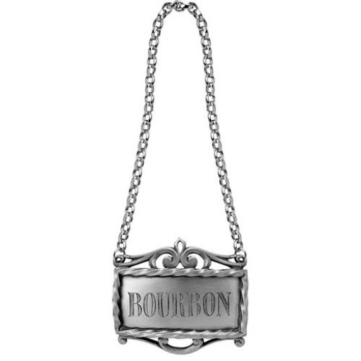 Salisbury Pewter Bourbon Decanter Label - Available from SilverGallery.com