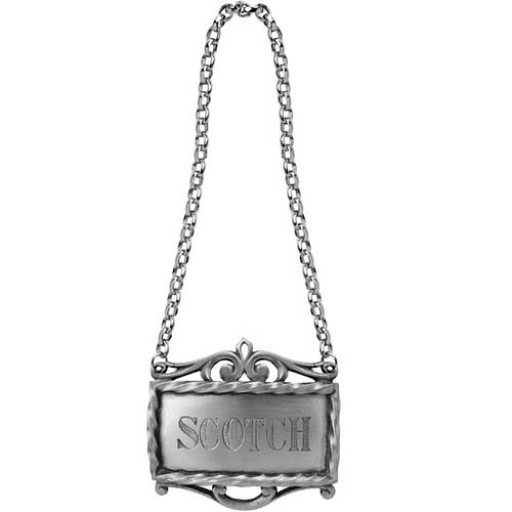 Salisbury Pewter Decanter Label - Scotch - Available from SilverGallery.com
